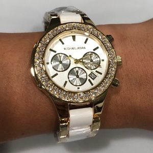 MK Women's watch white and gold
